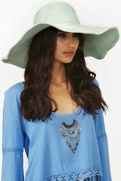Metallic Straw Hat