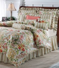 (Click to order - $440.00) Jane Seymour Coral Canyon Spring Terrace King Comforter Set From Jane Seymour