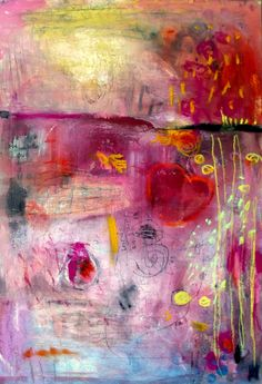 apprx 12 by 20 in cold pressed watercolor paper with mixed media 2012 how much love wendy mcwilliams