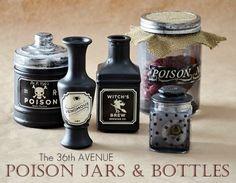 DIY Halloween Poison Bottles http://www.the36thavenue.com/2012/09/diy-halloween-poison-bottles.html