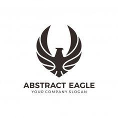 Modern black eagle logo Premium Vector | Premium Vector #Freepik #vector #logo #business #vintage #abstract Eagle Icon, Logos Photography, Hawk Logo, Fantasy Logo, Falcon Logo, Eagle Images, Bb Beauty, Geometric Bird, Eagle Vector