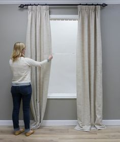 When hanging draperies, you can't expect them to look perfect right out of the package. It takes a few extra stepsto give your windows a professional look, but it's so worth it. How to Train Drapes Getting Started: Iron or