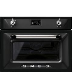 Smeg SF4920MCN Enamel Interior Compact Microwave Combination Oven