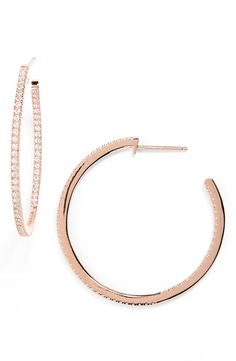 These rose gold hoop earrings will be the perfect addition to the jewelry collection.