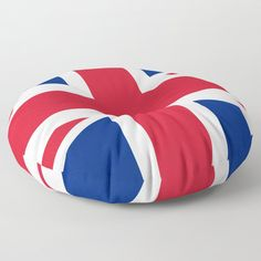 UK Flag Union Jack Floor Pillow by flagsoftheworld Uk Flag, Flags Of The World, Union Jack, Electric Blue, Tack, Floor Pillows, Navy And White, Bean Bag Chair