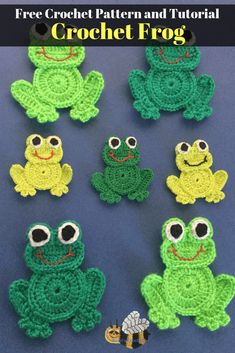 Get this free crochet pattern of this crochet frog at Kerri's Crochet. Get this free crochet pattern of this cute little crochet frog at Kerri's Crochet. The pattern also has a free video tutorial. Crochet Frog, Crochet Amigurumi, Crochet Teddy, Crochet Unicorn, Cute Crochet, Crochet Crafts, Crochet Baby, Crochet Projects, Crochet Birds