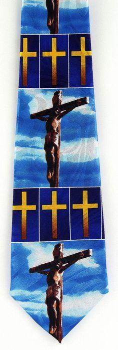 For Our Sins Mens Necktie Christian Jesus Religious Cross Easter Gift Tie New #StevenHarris #NeckTie