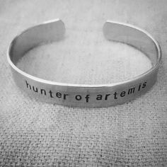 New Percy Jackson bling in our Etsy shop! https://www.etsy.com/listing/219177066/hunter-of-artemis-hand-stamped-aluminum