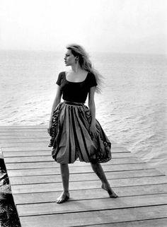 Brigitte Bardot photographed by Nicolas Tikhomiroff in 1960