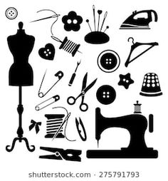 Great No Cost hand sewing logo Popular Sewing icon set vector Sewing Room Decor, Sewing Rooms, Sewing Clipart, Sewing Machine Embroidery, Knitting Machine, Sewing Patterns For Kids, Sewing Studio, Icon Set, Stencil