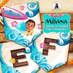 Moana Banner - Moana Banner en Español - Feliz Cumpleaños - Moana Printable Banner - Moana Spanish Banner - Princess Moana -  Moana Garland de LythiumArt en Etsy