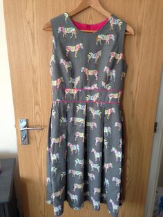Gather Mortmain dress. Fabric from Ditto Fabrics, Brighton
