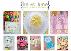 Kids Birthday Party Ideas and printables available at Etsy.