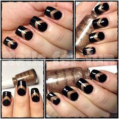 Black with Flormar 394 chevrons