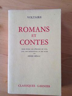 #littérature : Romans Et Contes - Voltaire. Editions Garnier Frères/Classiques Garnier, 04/1963. Edition illustrée. Texte établi sur l'édition de 1775, avec une présentation et des notes par Henri Bénac. XII + 676 pp. brochées.
