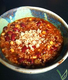Vegan Recipe - Slow Cooker Quinoa Chili