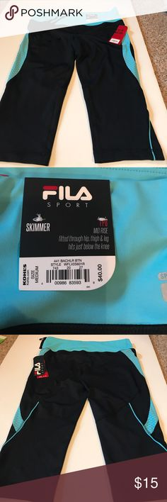 NWT Fila workout tights NWT workout tights. Hits below the knees. Inner Drawstring Fila Pants Leggings