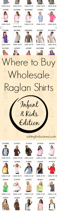 Where to buy Wholesale Raglan (Baseball) Shirts for Infants, Toddlers, and Kids - Cutting for Business