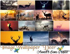 """Annett's Sims 4 Welt: Image Wallpapers """"Deer"""""""