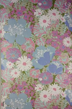 Knallend retro bloemenbehang | Swiet