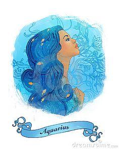 Signe astrologique de Verseau en tant que belle fille