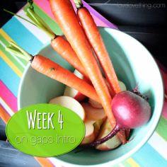 Week 4 on the GAPS Intro diet