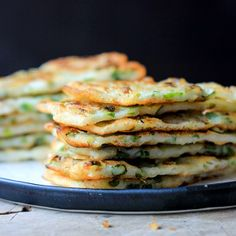 Scallion Pancake—Simplified Version Easy Chinese Scallion PancakeScallion pancake A scallion pancake, also known as a green onion pancake or spring onion pancake is a kind of pancake made with scallions. Vegetarian Recipes, Cooking Recipes, Healthy Recipes, Scallion Pancakes Chinese, Chinese Pancake, Good Food, Yummy Food, Pancakes Easy, Asian Cooking