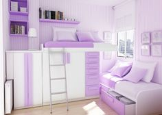 The loft bed is cool