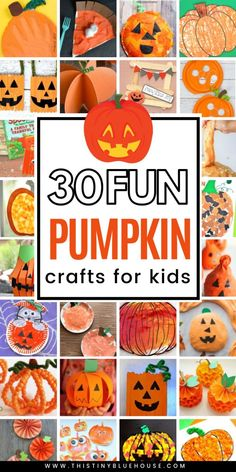 here are 30 of the BEST pumpkin Halloween crafts for kids. These fun crafts are a great way to get excited about Halloween! here are 30 of the BEST pumpkin Halloween crafts for kids. These fun crafts are a great way to get excited about Halloween! Halloween Crafts For Kids, Halloween Activities, Halloween Pumpkins, Fall Crafts, Diy Halloween, Holiday Crafts, Nanny Activities, Blue Crafts, Autumn Activities