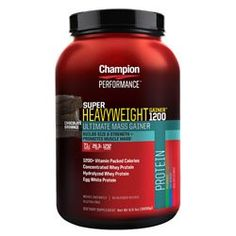 Champion Nutrition Super Heavyweight Gainer 1200 Double Fudge Chocolate Shake 66 lbs 3000 g >>> Find out more details @