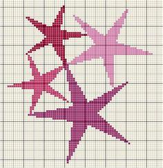 Grille gratuite : étoiles en points de croix - 2mains ou les loisirs créatifs de Peggy