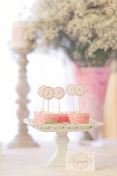 Starry Shabby Chic 1st Birthday Party - Korean, Star Party Ideas | Kara's Party Ideas