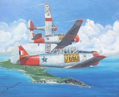 Harvards over Cape Point by Derrick Dickens, acrylic on canvass
