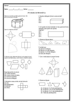 Atividade avaliativa – Geometria  |   Rérida Maria
