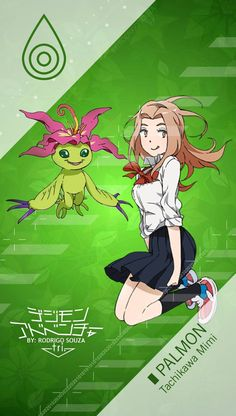 Tachikawa Mimi _ PALMON Digimon Adventure