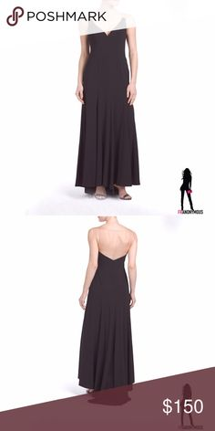 """Vera Wang Black Silk Panel Gown 6 8 From Vera Wang. Seam detail, sheer panel illusion top. Sleeveless, v-neck. 70"""" long in size 4. Side zip and hook closure. Polyester, silk and   spandex. Size 6, 8 Vera Wang Dresses"""