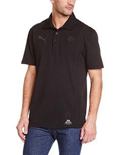 PUMA Herren Polo Shirt BVB Archives, Black, L, 745922 01