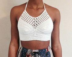 Bohemian Mandala Crochet Halter Top by ascrochets17 on Etsy