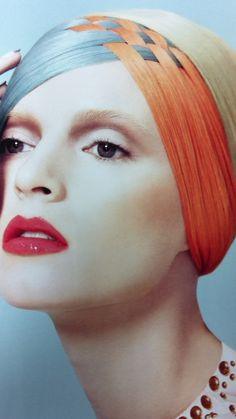 Blue and orange hair