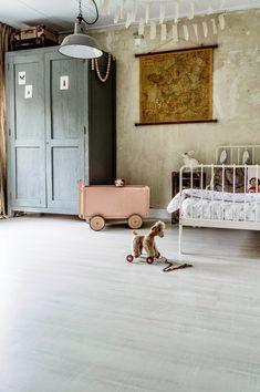 beautiful rustic loft bedroom for lucky littles.  #estella #kids #decor