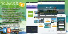Travel, Exploration, Booking,  Creative Travel Agency Theme HTML5 . Travel  is a perfect theme for all sorts of travel websites, like local travel agencies, hotel websites, blogs about traveling, resorts, adventure parks and tour companies. All special travel and tourism niche functionality is