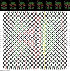 Friendship Bracelet Pattern - Start Wars Boba Fett