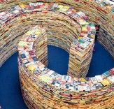 A book maze! This is one maze we wouldn't mind getting lost in :)