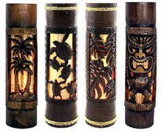 Hawaiian Lamp Tiki Bar Palm Tree Home Office Bath Decor | eBay