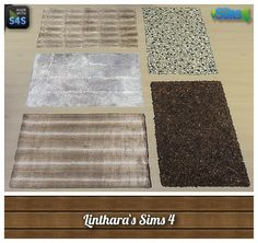 Lintharas Sims 4: 5 Rug recolors • Sims 4 Downloads