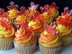 Maple Leaf Cupcakes