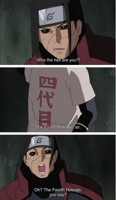 And when he found out who was fifth hokage he was worried about the village.♡♥