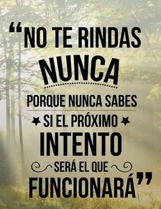 No te rindas nunca — Steemit frases - Rebel Without Applause Positive Mind, Positive Attitude, Positive Vibes, Positive Quotes, Positive Phrases, Motivacional Quotes, Words Quotes, Life Quotes, Qoutes