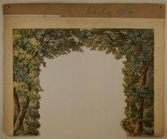 Wald. 4. Kulissenbogen Nr. 101D. [Satzdekoration, großes Format]