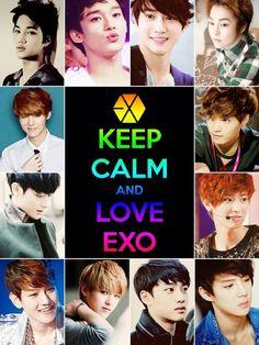 I love EXO!!!!!!! Tao, Chen, Chanyeol, Baekhyun, Lu Han, Sehun, Kris, Kai, Lay, Suho, D.O, Xiumin!!!! <3